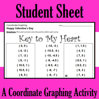 Valentine's Day - Key to My Heart - A Coordinate Graphing Activity