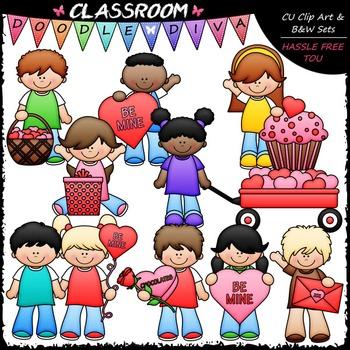 Valentine's Day Kids Clip Art - Valentine's Day Clip Art