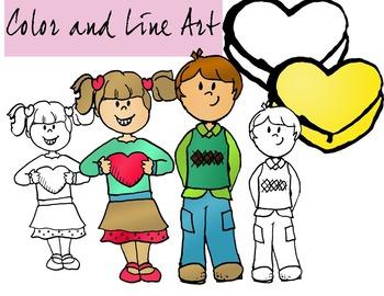 Valentines Day Kids Clip Art