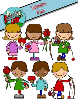 Valentine's Day Kids Clipart / Graphics