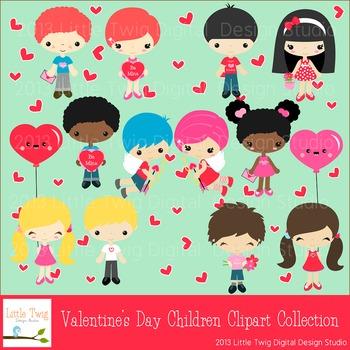 Valentine's Day Kids Series 1  Digital Clipart