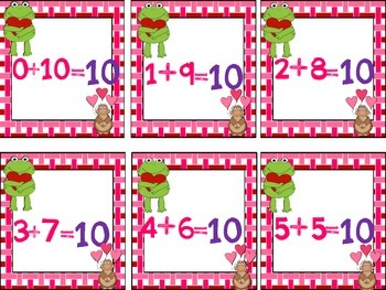 Valentine's Day Kinder Math Centers (9 CCSS Centers)