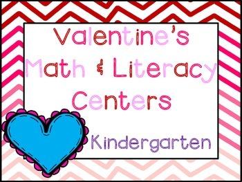 Valentine's Day Kinder Math & ELA Pack (20+ CCSS Centers)