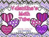 Valentine's Day Kinder Math Tubs {CCSS Aligned}