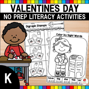 valentine 39 s day kindergarten literacy worksheets by united teaching. Black Bedroom Furniture Sets. Home Design Ideas