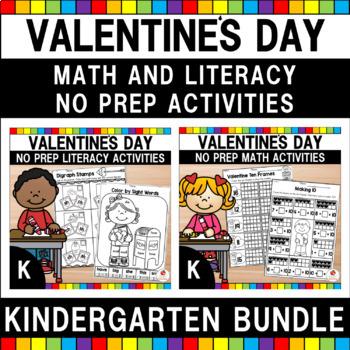 Valentine's Day Kindergarten Literacy & Maths Worksheets