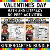 Valentine's Day Kindergarten Worksheets Bundle
