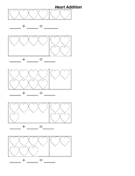 Valentine's Day Kindergarten Math