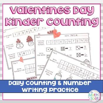 Valentines Day Kindergarten Math Activities