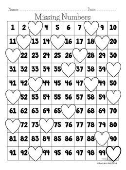 Valentine's Day Kindergarten Math Pack