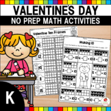 Valentine's Day Math Worksheets (Kindergarten)
