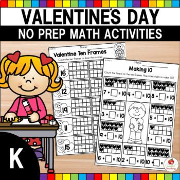 Valentines Day Math Worksheets Kindergarten