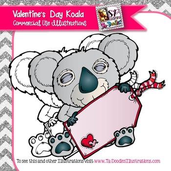 Valentine's Day Koala with Heart Tag FREEBIE