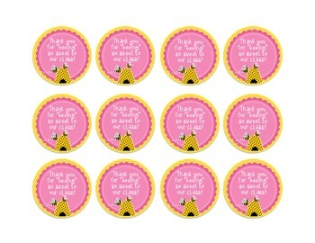 FREEBIE Valentine's Day Honey Bear Labels {Thank You For Being So Sweet!}