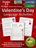 Valentine's Day Language Activities