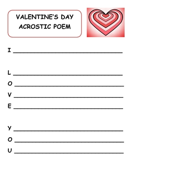Valentine's Day Language Arts Activities