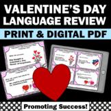 Valentine's Day Literacy Centers, Grammar Practice Task Cards