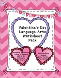 Valentine's Day Language Arts Worksheet Pack