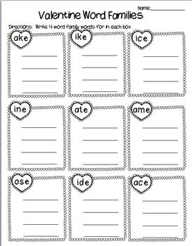 Valentine's Day Language Arts Worksheet Pack