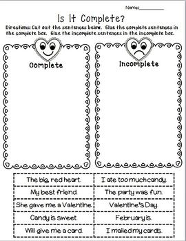 valentine 39 s day language arts worksheet pack by the honey pot tpt. Black Bedroom Furniture Sets. Home Design Ideas