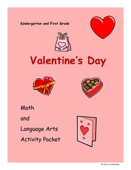 Valentine's Day Language Arts and Math Activity Packet