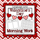 Valentine's Day Language Arts cut and paste morning work