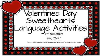 Valentines Day Language Pack: Auditory Memory, Antonyms, M