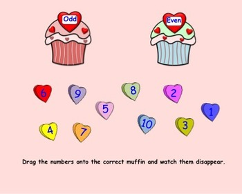 Valentine's Day Language and Math for K-1 for Smartboard