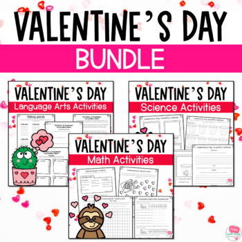 Valentine's Day Academics & Fun! Language Arts, Math and Science