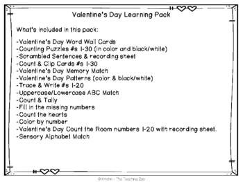 Valentine's Day Learning Pack {Centers, NO PREP & More!}