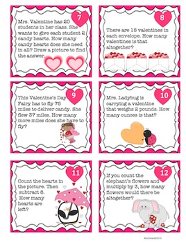 Valentine's Day Printables! Math + Literacy Packet! Centers! Word Problems!