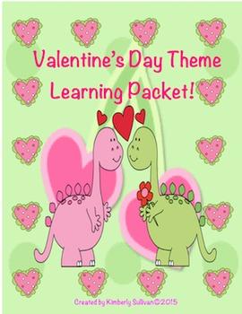 Valentine's Day Printables! Math + Literacy Packet! Center