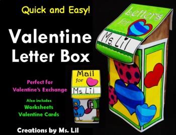 Valentines Day Letter Box ::  Valentines Craft ::  Valentine Card Holder ::