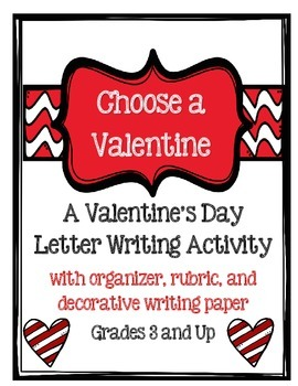 Writing a letter rubric teaching resources teachers pay teachers valentines day writing letter with directions rubric and paper stopboris Image collections