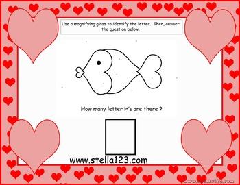"Valentine's Day Letter ""H"" I Spy Freebie"