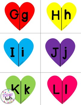 Valentines Day Letter & Number Matching Game