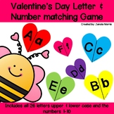 Valentines Alphabet Activity: Letter and Number Matching f