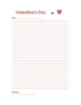 Valentine's Day Letter - On sale for VDAY!