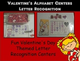 Valentines Day Letter Recognition Centers