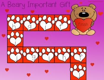 Valentine's Day Letter Recognition Game FREEBIE