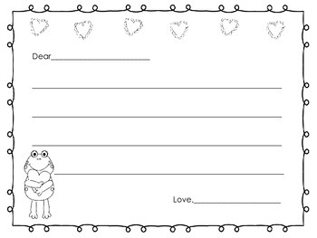 Valentine's Day Letter Writing Paper