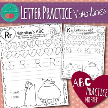 Valentines Day Letter Practice By Cherry Workshop Tpt