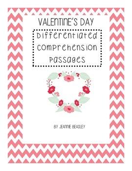 Valentine's Day Leveled Comprehension Packet