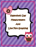 Valentine's Day Line Plot Graphing and Measurement