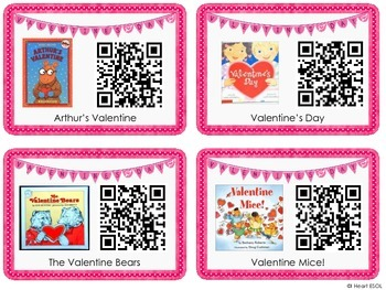 Valentine's Day Listening Center with QR Codes