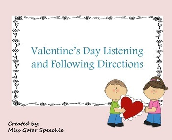 Valentine's Day Listening and Following Directions