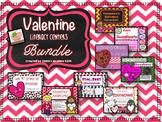 Valentine's Day Literacy Center Bundle