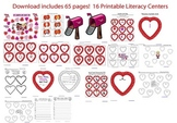 Valentine's Day Literacy Centers - 17 Printable Centers!
