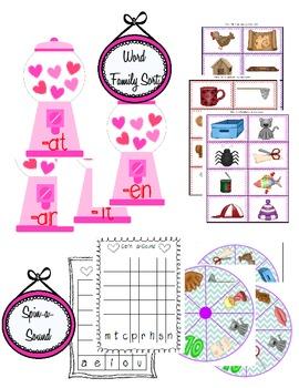 Valentine's Day Literacy Centers Bundle