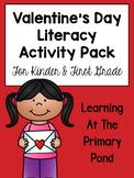 Valentine's Day Literacy Centers and Activities {Kindergarten & First Grade}